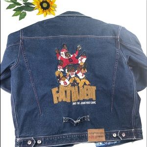 PLATINUM FUBU FAT ALBERT DENIM BLUE JEAN JACKET